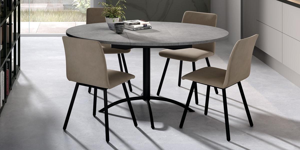 Ensemble tafel Laser en stoelen Pisa