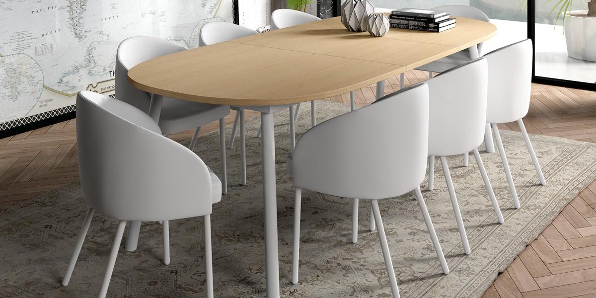 Ensemble tafel Rialto en stoelen Rialto