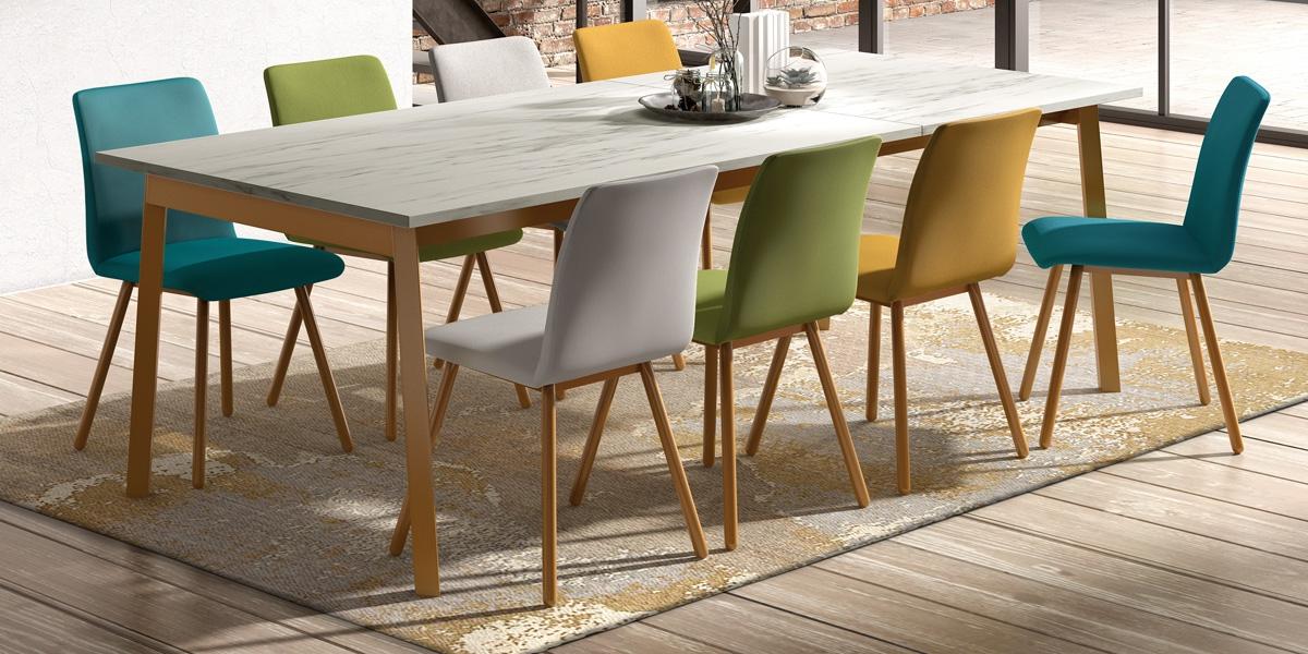 Ensemble table Victoria et chaises Pisa
