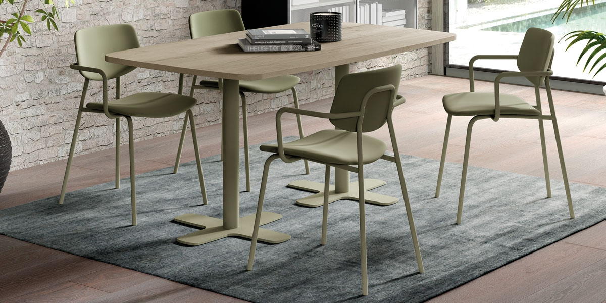 Ensemble table Spinner2 and chairs Lago