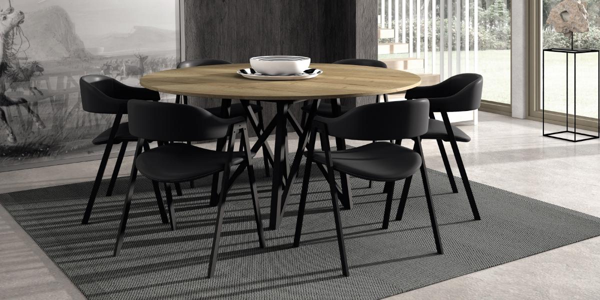 Ensemble tafel Wacko en stoelen Arca