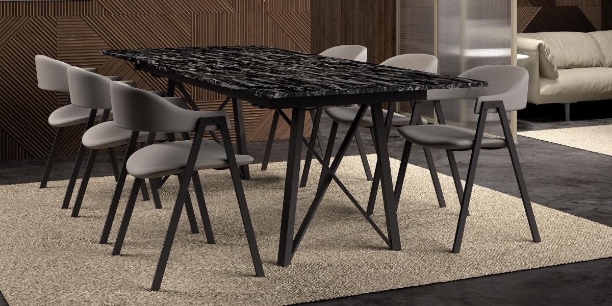 Ensemble tafel Wacko2.0 en stoelen Arca