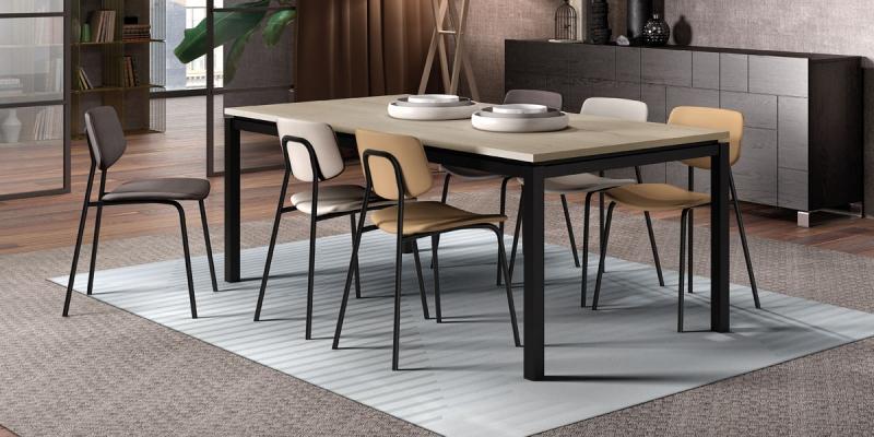 Ensemble table Vicenza et chaises Lago