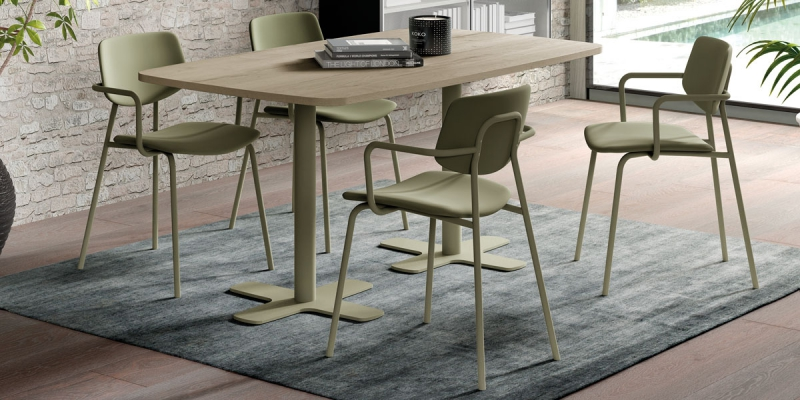 Ensemble table Spinner2 et chaises Lago