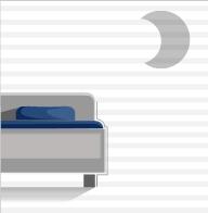 bed en nachttafel